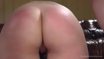 maci may's large booty is caned and fucked very difficult by mean master