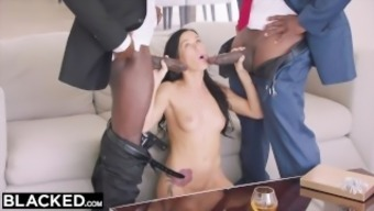 BLACKED Sizzling Megan Rainwater Gets DP'd By Her Common sugar Father with his fantastic Close friend