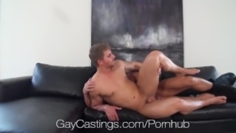 HD GayCastings - Muscular texas boy fucked on chosing settee