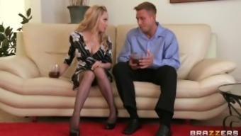 Lovely pale MILF Aiden Starr makes her son-in-law to hack