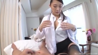 Japanese people hen Hamasaki Mao gets her hairy clit popped by a unfamiliar person