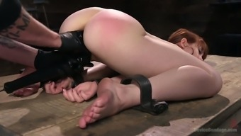 Beautiful red haired prostitute Alexa Nova gets her twat punished
