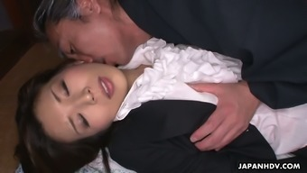 Stunning special Japanese counter Mai Kuroki gets nailed in standing up present