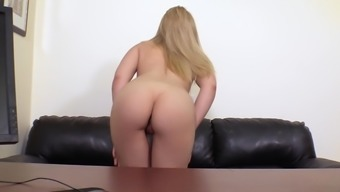 Lovely blonde love Chromatic amber-gold likes it anytime friend fucks her brushed pussy