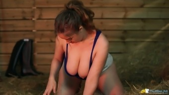 Really nice cleverage of big breasted sexpot Lara is flashed in this xxx vid